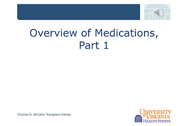 """Thumbnail image for """"Overview of Transplant Medicines: Part 1"""""""