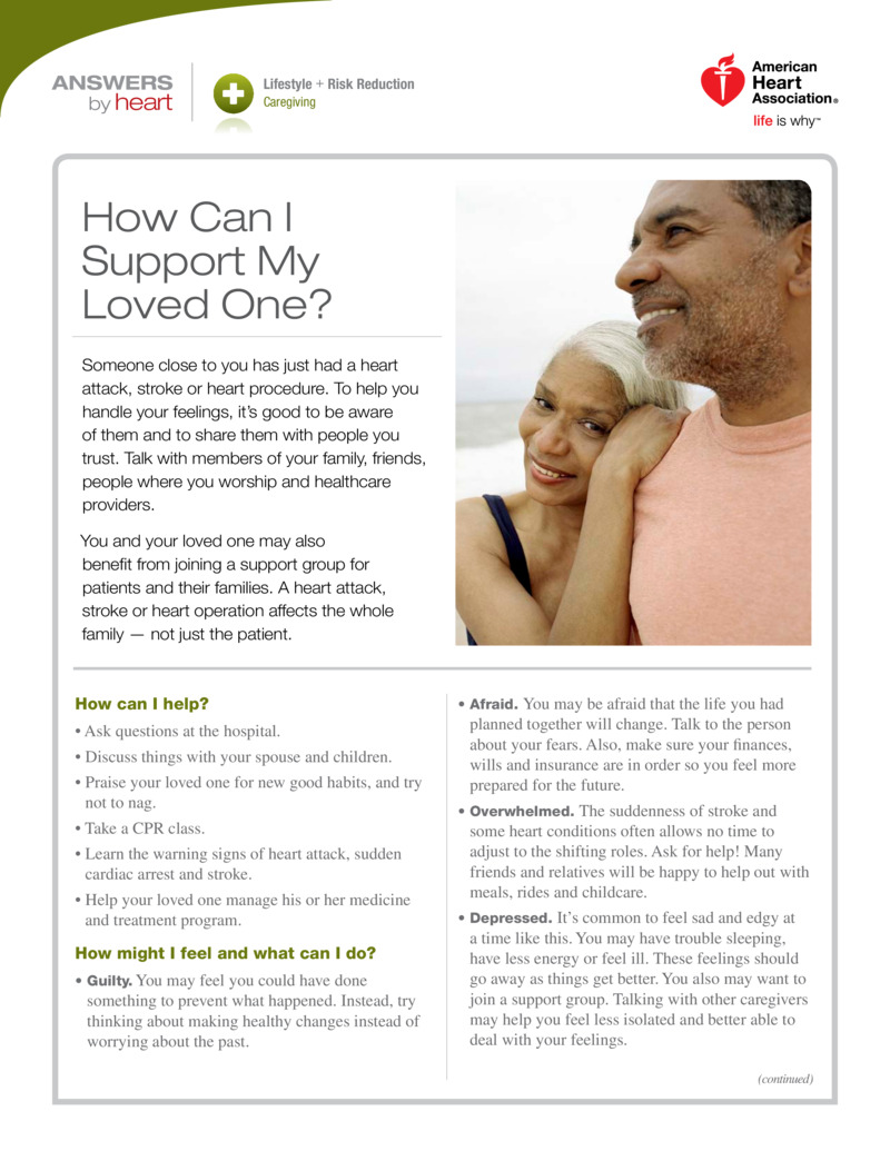 "Poster image for ""How Can I Support My loved One?"""