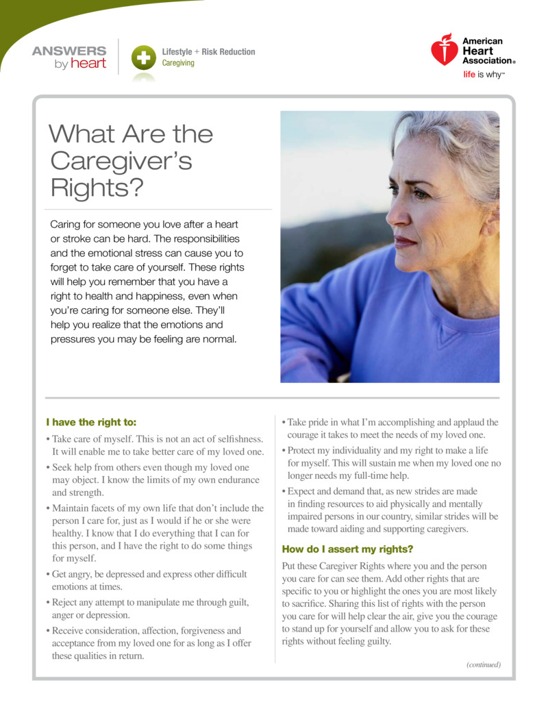 """Poster image for """"What Are the Caregiver's Rights?"""""""