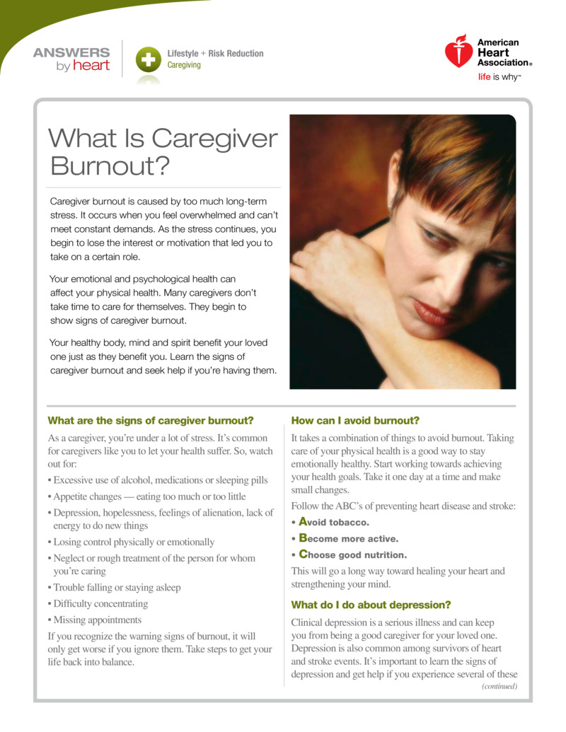 "Poster image for ""What Is Caregiver Burnout?"""