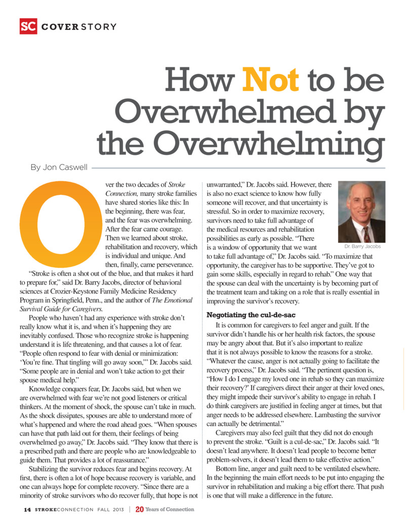 "Poster image for ""Caregiving: How Not to be Overwhelmed by the Overwhelming"""