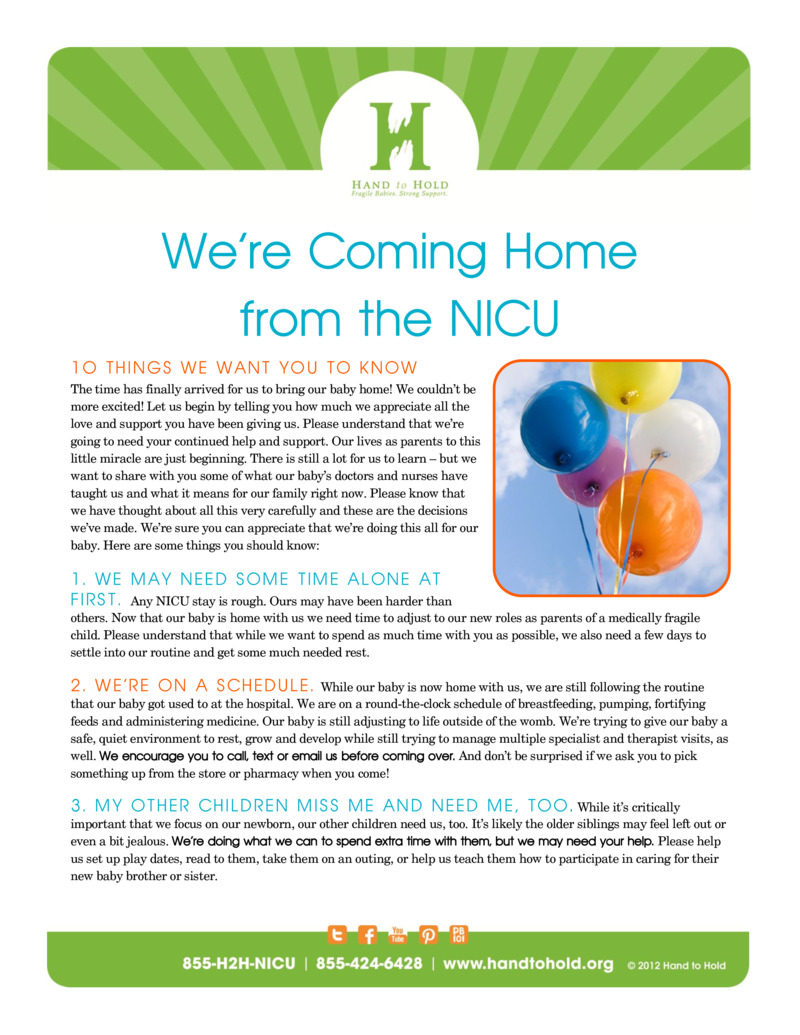"""Poster image for """"We're Coming Home from the NICU"""""""