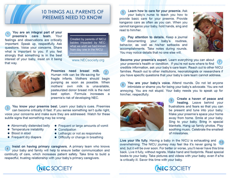 """Poster image for """"10 Things All Parents of Preemies Need to Know"""""""
