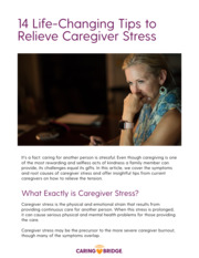 """Thumbnail image for """"14 Life-Changing Tips to Relieve Caregiver Stress"""""""