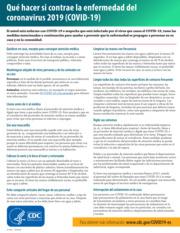 """Thumbnail image for """"Qué hacer si contrae la enfermedad del coronavirus 2019 (COVID-19)"""""""
