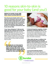 "Thumbnail image for ""10 reasons skin-to-skin is good for your baby (and you!)"""