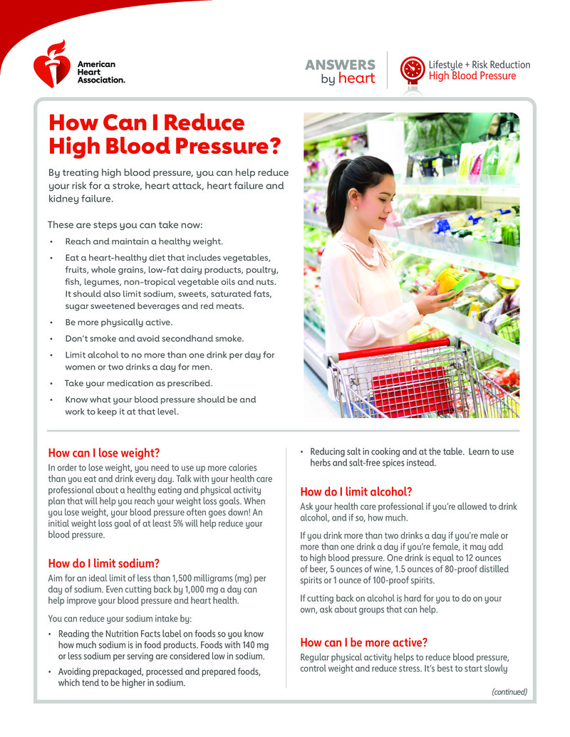 """Poster image for """"How Can I Reduce High Blood Pressure?"""""""