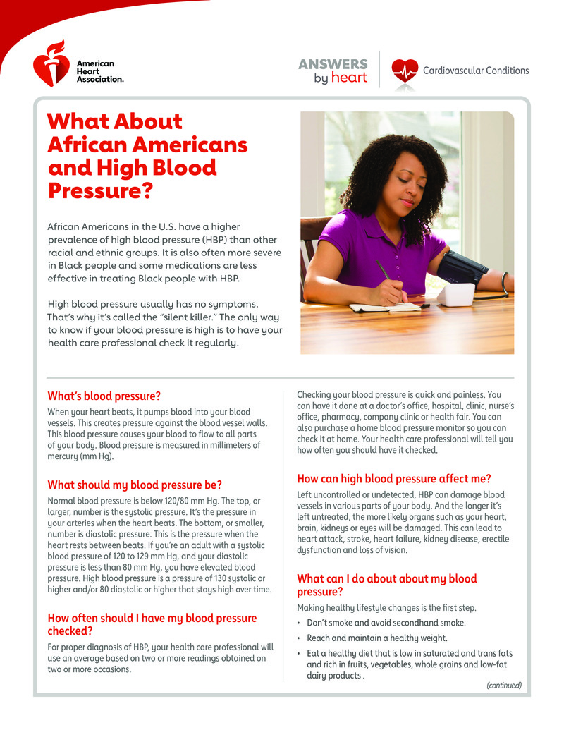 """Poster image for """"What About African Americans and High Blood Pressure?"""""""