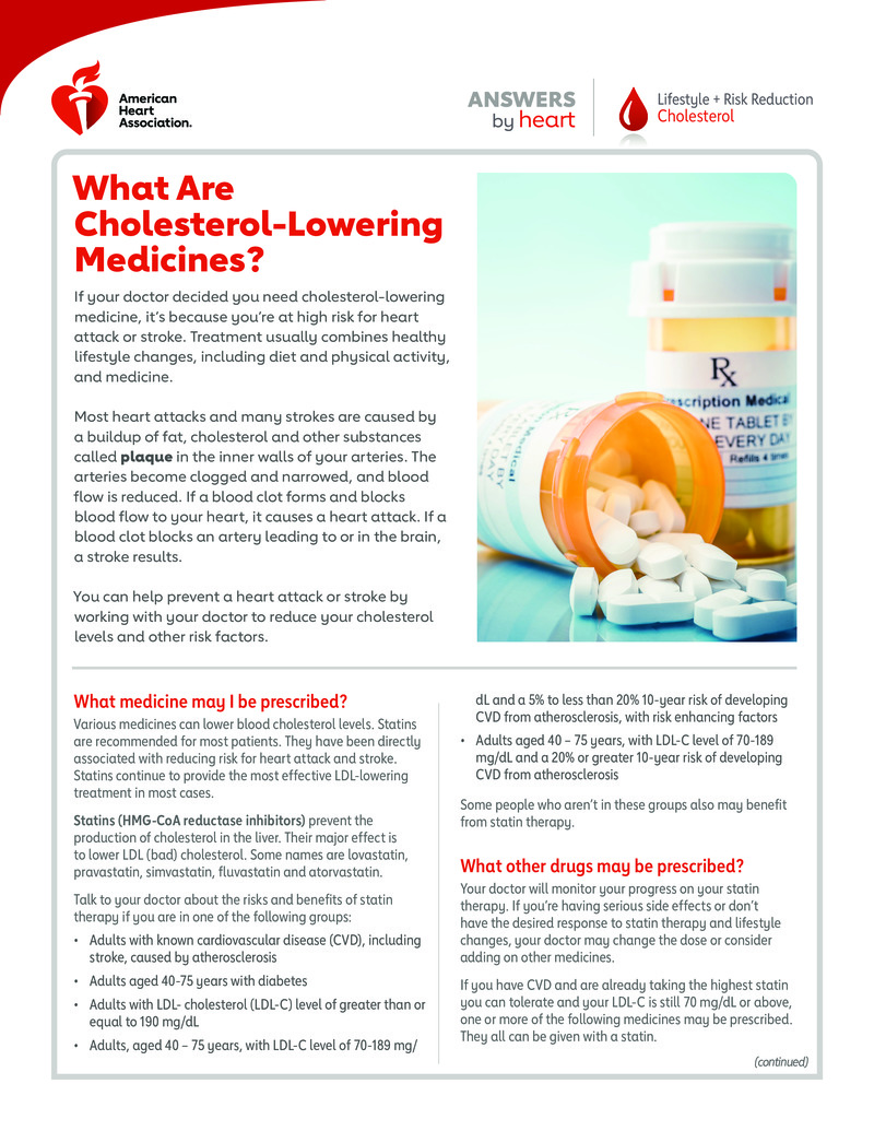 """Poster image for """"What Are Cholesterol-Lowering Medicines?"""""""