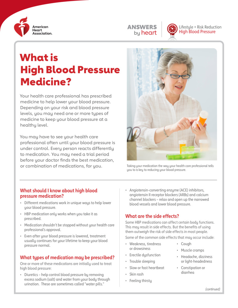 """Poster image for """"What Is High Blood Pressure Medicine?"""""""