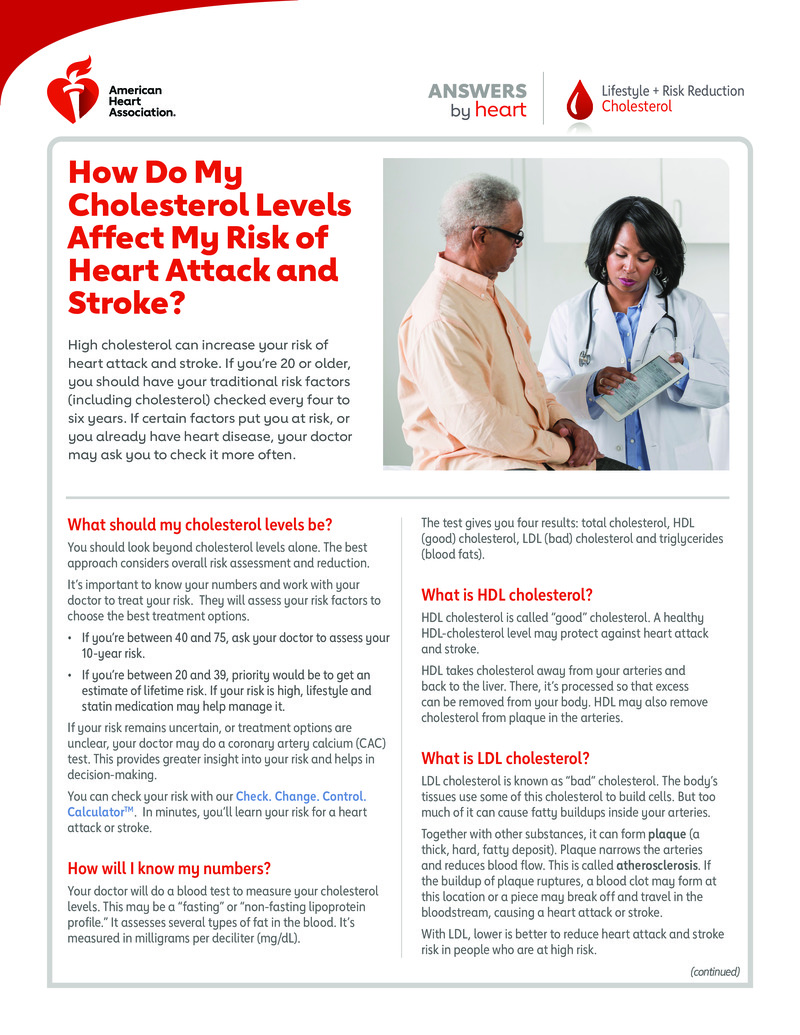 """Poster image for """"How Do My Cholesterol Levels Affect My Risk of Heart Attack and Stroke?"""""""