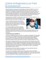 """Thumbnail image for """"¿Cómo se Diagnostica y se Trata el Coronavirus?"""""""