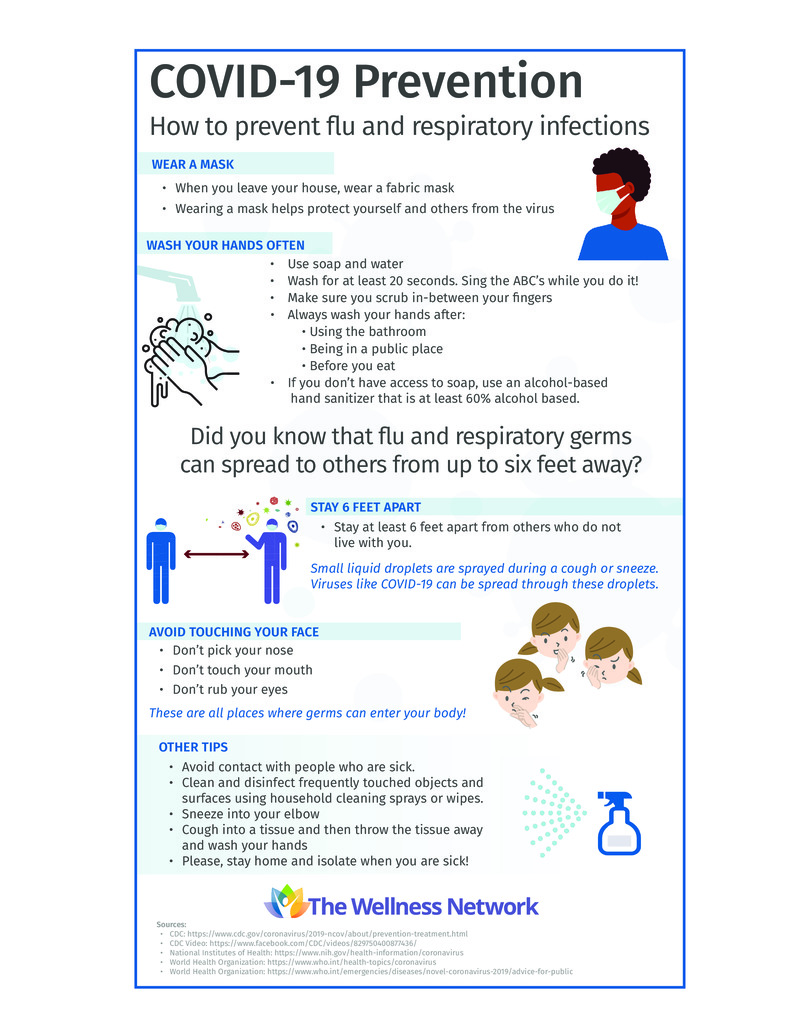 """Poster image for """"COVID-19 Prevention: How to Prevent Flu and Respiratory Infections"""""""