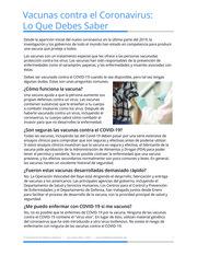 """Thumbnail image for """"Vacunas contra el Coronavirus: Lo Que Debes Saber"""""""